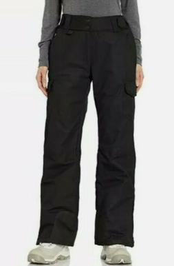 Arctix Women's Snow Sports Insulated Cargo Pants, Black X-Sm