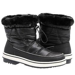 ALEADER Women's Terra Waterproof Winter Ankle Snow Boots Bla