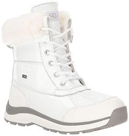 UGG Women's W Adirondack Boot III Patent Snow, White, 10 M U