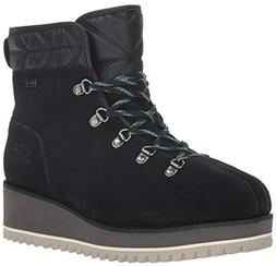 UGG Women's W Birch LACE-UP Boot Snow, Black, 8 M US