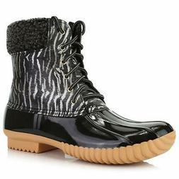 Women's DailyShoes Warm Snow Booties Lace Up Ankle High Cash