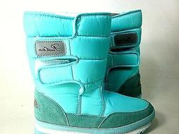 DADAWEN Women's Waterproof Frosty Snow Boot Blue US Size 10