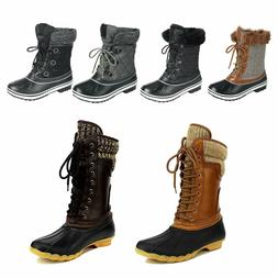 Women's Waterproof Rubber Hiking Duck Boots Winter Rain Snow