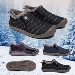 Women's Waterproof Snow Boots Slip-on with Fur Lined Warm Bo