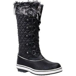 ALEADER Women's Waterproof Winter Snow Boots Black 8.5 M US