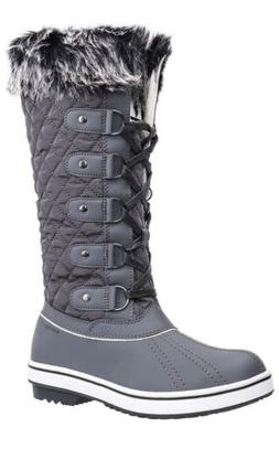 ALEADER Women's Waterproof Winter Snow Boots Gray     0091