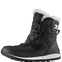 Sorel Women's Whitney Short Lace Snow Boot, Black, Sea Salt,