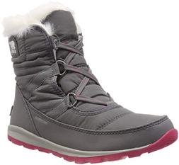 SOREL Women's Whitney Short Lace Snow Boot, Quarry, Bright R