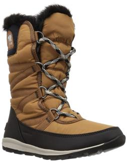 SOREL Women's Whitney Tall Lace Snow Boot Camel Brown, Dark