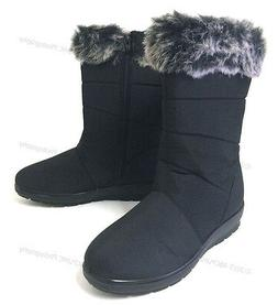 "Women's Winter Boots Black 10""  Fur Lined Fashion Warm Zippe"