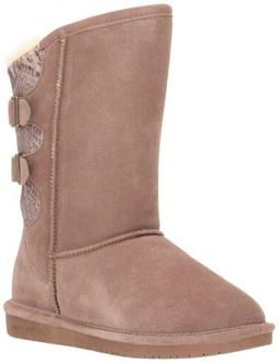 BEARPAW Women's Boshie Winter Snow Boots Cow Suede & Shearli