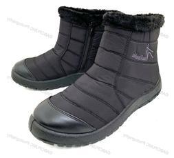 Women's Winter High Ankle Top Boots Fur Waterproof Zipper Sn