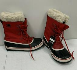 Sorel Women's Winter Mountain Carnival Red Lace up Snow Boot
