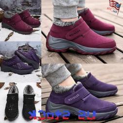 Women's Winter Sneaker Snow Shoes Ladies Hook Loop Fluffy Ca