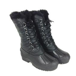 Polar Women's Winter Snow Boots Nylon Quilted Lace Ups Faux