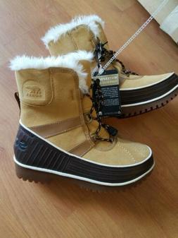 SOREL Women's Winter/Snow Tivoli II Suede Short Boot Curry/T