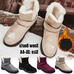 Women's Winter Warm Casual Faux Suede Fur Ankle Boots Non-sl