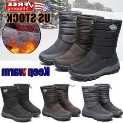 Women's Winter Warm Snow Boots Fur Lined Outdoor Waterproof