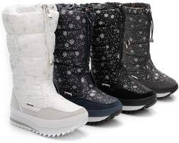 DADAWEN Women's Winter Waterproof Fur Lined Frosty Snow Boot