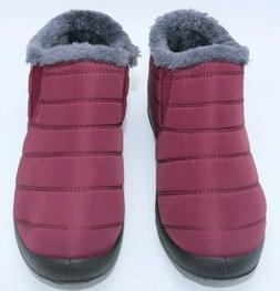 BJ women shoes Warm Wool Lining Flat Ankle Snow Boots For wi