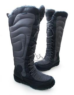 WOMEN TIMBERLAND snow boots 17680 Crystal tall black waterpr