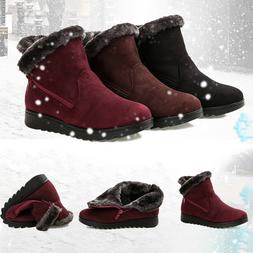 women snow boots plus size winter ankle