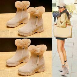Women Suede Leather Ankle Boots Platform Wedge Fashion Sneak