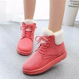Women Thicken Winter Fur Lining Ankle Booties Short Snow Boo