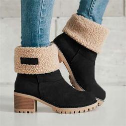 Women Winter Fur Warm Snow <font><b>Boots</b></font> Ladies