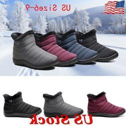 Women Winter Snow Boots Water-Proof Casual Zipper Flat Warm