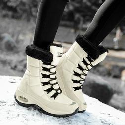 Women Winter Warm Ankle Snow Boots Girls Fur Lining Waterpro