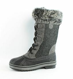 Northside Womens Bishop Charcoal Snow Boots Size 6