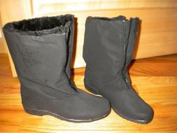 Womens Black Rain Snow Boots Snowflake Chromatics by Totes s