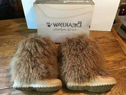 WOMENS BEARPAW BOETIS Boots Size 12 Lamb Sheepskin Winter Sn