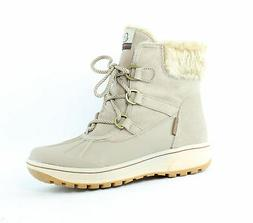 Bare Traps Womens Danula Taupe Snow Boots Size 7.5