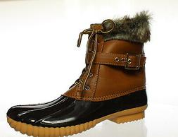 Nature Breeze Womens Duck Brown Snow Boots Size 9