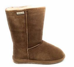 Bearpaw Womens Emma Short Mid-Calf Winter Snow Boots Brown S
