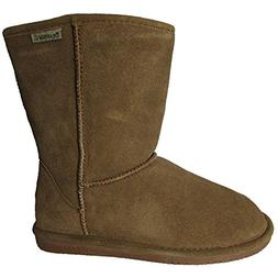 Bearpaw Womens Emma Short 8-Inch Suede Sheepskin Boot, Hicko