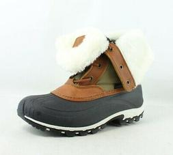 Kamik Womens Harper Khaki/Taupe Snow Boots Size 8