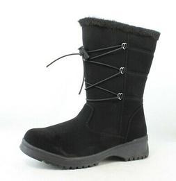 Tundra Womens Lacie Black Snow Boots Size 7