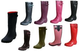 WOMENS LADIES WIDE CALF SNOW RAIN FESTIVAL WELLIES WELLINGTO