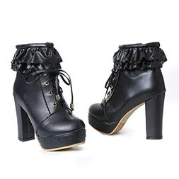 womens office party sweet lolita platform chunky