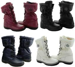 Coach Womens Sage Lace Up Cold Weather Hiking Snow Mid-Calf