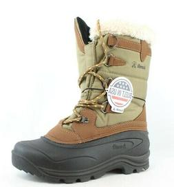Kamik Womens Shellback Khaki Snow Boots Size 10