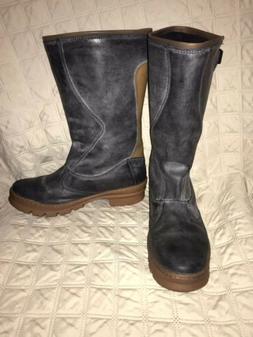KEEN Womens Shoes Black Rain Boots Willamette Waterproof Sue
