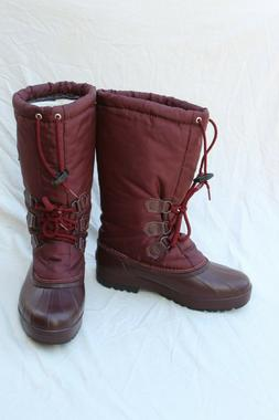 Sorel Womens Size 9 Tall Winter Snow Boot Maroon Removable L