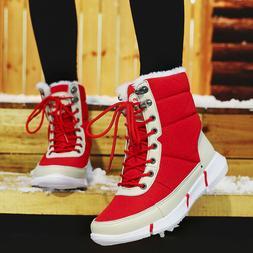 Women's Snow Boots Waterproof Wide Calf Winter Warm Ankle