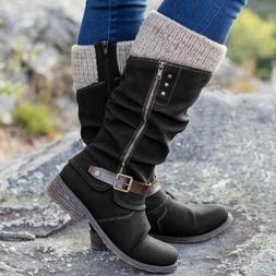 Womens Snow Boots Winter Warm Lace Up Fur Lined Hiking Outdo