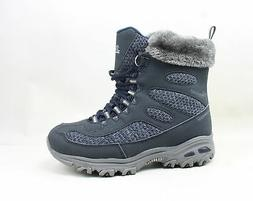 Skechers Womens Snow Plaza Navy Snow Boots Size 7.5