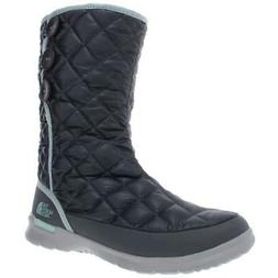 The North Face Womens Thermoball Button-Up Gray Snow Boots 9